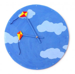 Bright Kites Clock