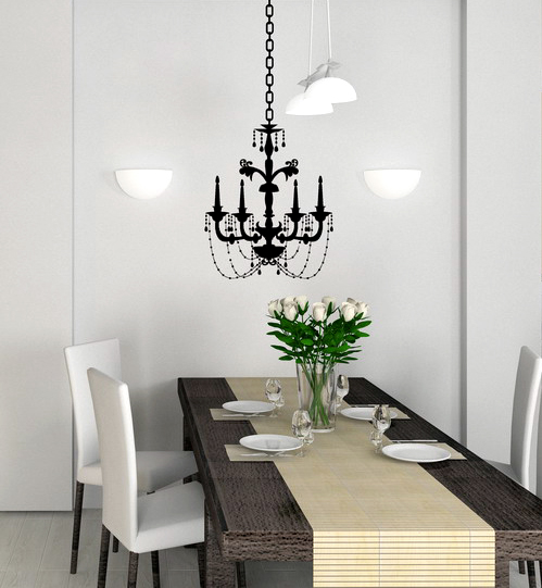Chandeliers on the wall wall decor source chandelier wall decal mozeypictures Gallery