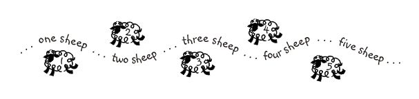 Counting Sheep Wall Quote counting sheep funny images