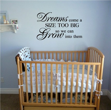 cute quotes about dreams. Nursery Wall Quotes