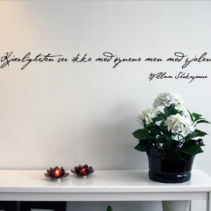 Kjaerligheten Wall Quote