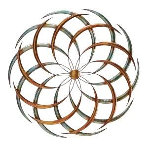 Swirly flower metal wall art