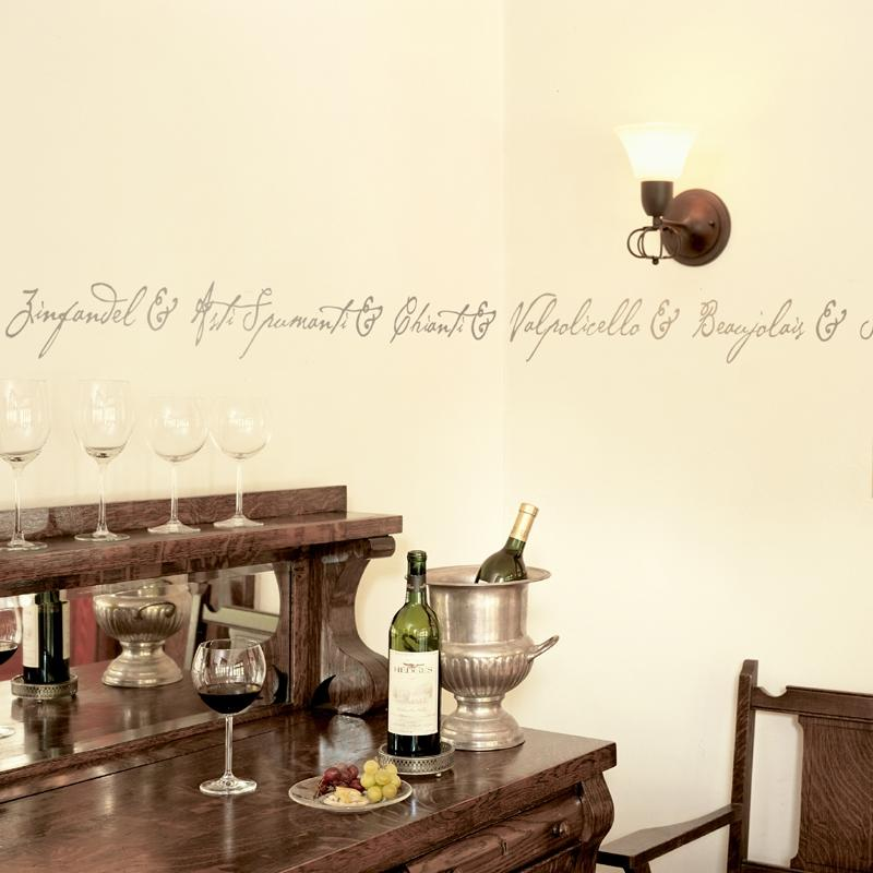Wine wallpaper border