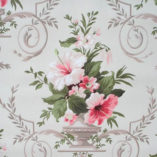 hibiscus wallpaper. Retro Wallpaper – 1920s To