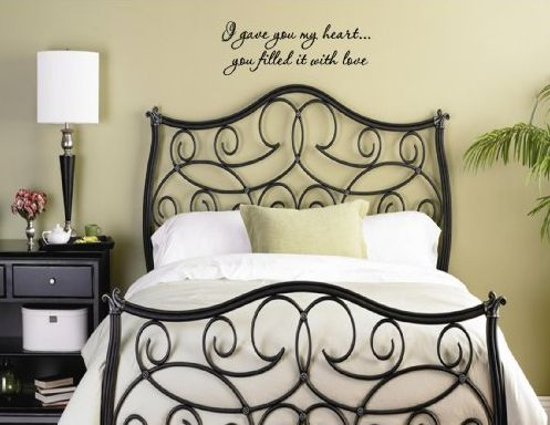 Romantic quotes for bedroom walls wall decor source Bedroom wall art