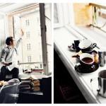 Coffee in kitchen window
