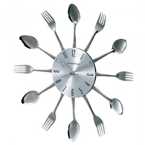 Spoon and Fork wall clock