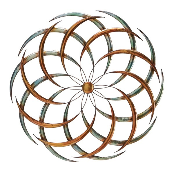 Swirly Flower Metal Wall Art