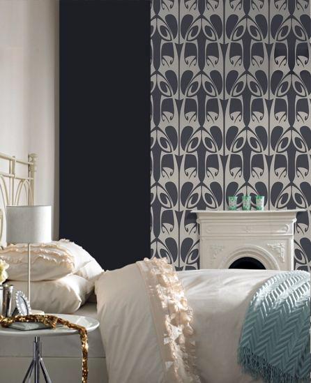 Room Decorated With Barbara Hulanicki Wallpaper