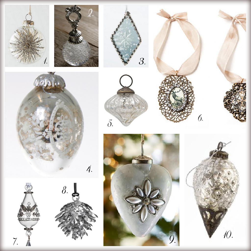 1 - Glass Christmas Tree Decorations